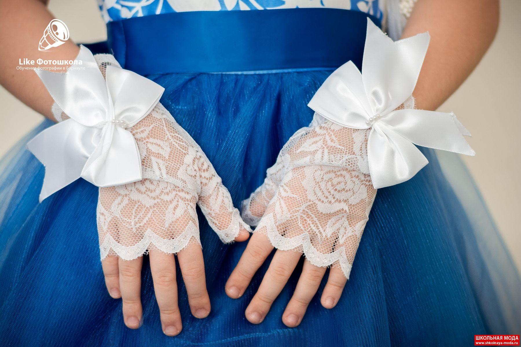 Детские перчатки к платью своими руками 90